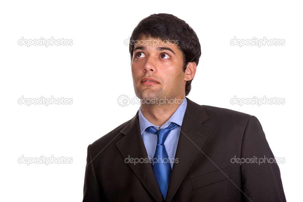 Young business man portrait in white background  Stock Photo #4882513