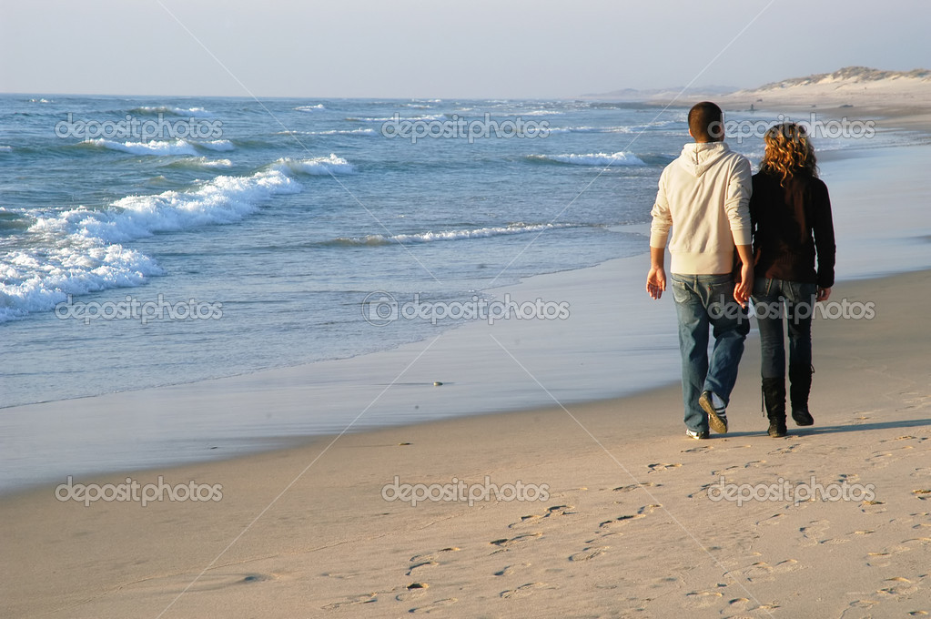 Couple in the beach — Stock Photo #4884188