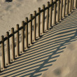 Stock Photo: Fence shadow