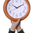 Hands clock — Stock Photo