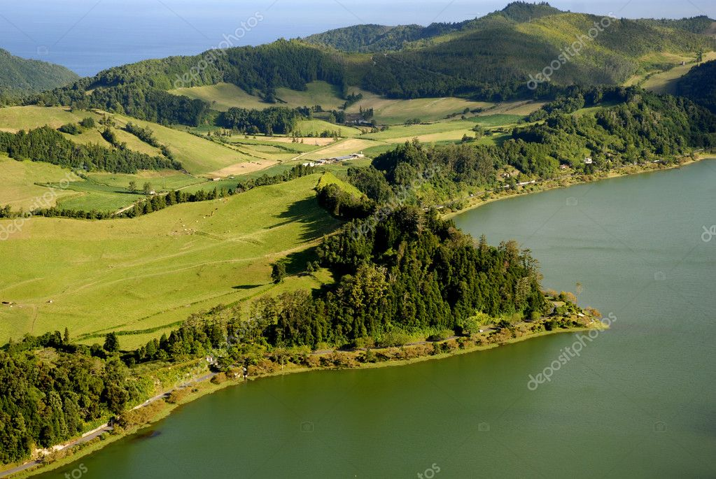 Azores seven lake in s miguel island — Stock Photo #4893954