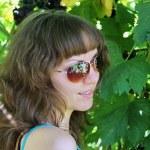 Beautiful girl on nature — Stock Photo
