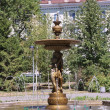 Decorative fountain in a park, city Kazan — Zdjęcie stockowe