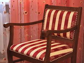 椅子是在客厅里 — Stockfoto