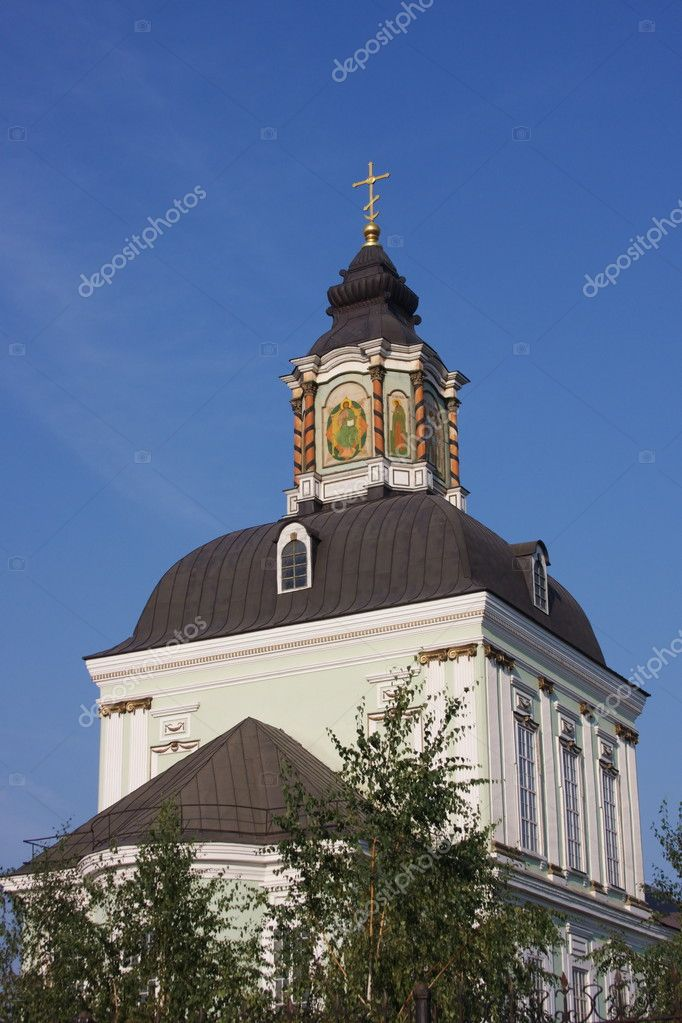 Temple on a background blue sky, city Tula, Russia  Stock Photo #4832608