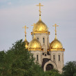 Stock Photo: Temple of All saints, burial mound, city Volgograd
