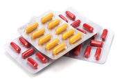 Medical capsules isolated on white — Stock Photo