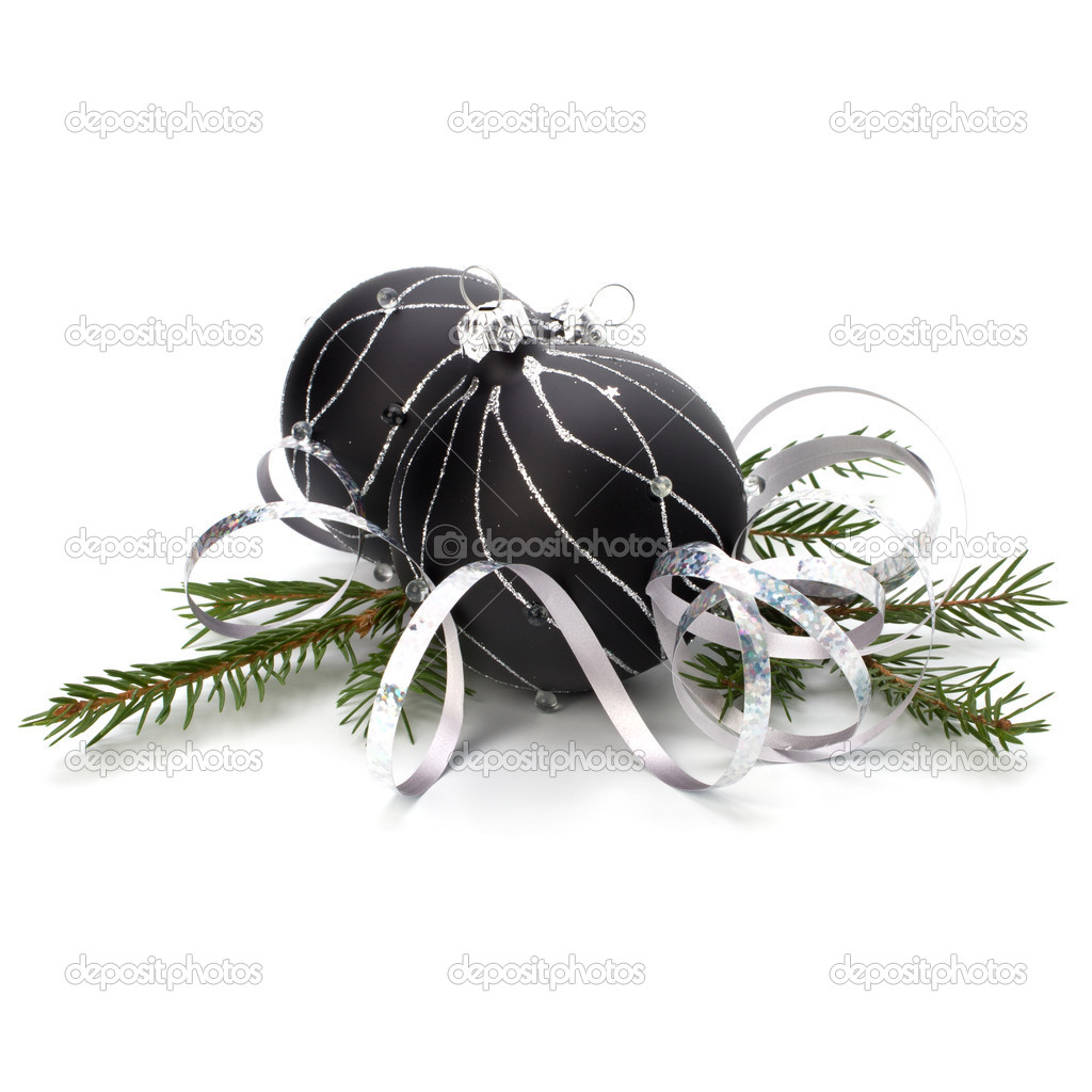 Christmas decoration isolated on white background close up — Stock Photo #4414096