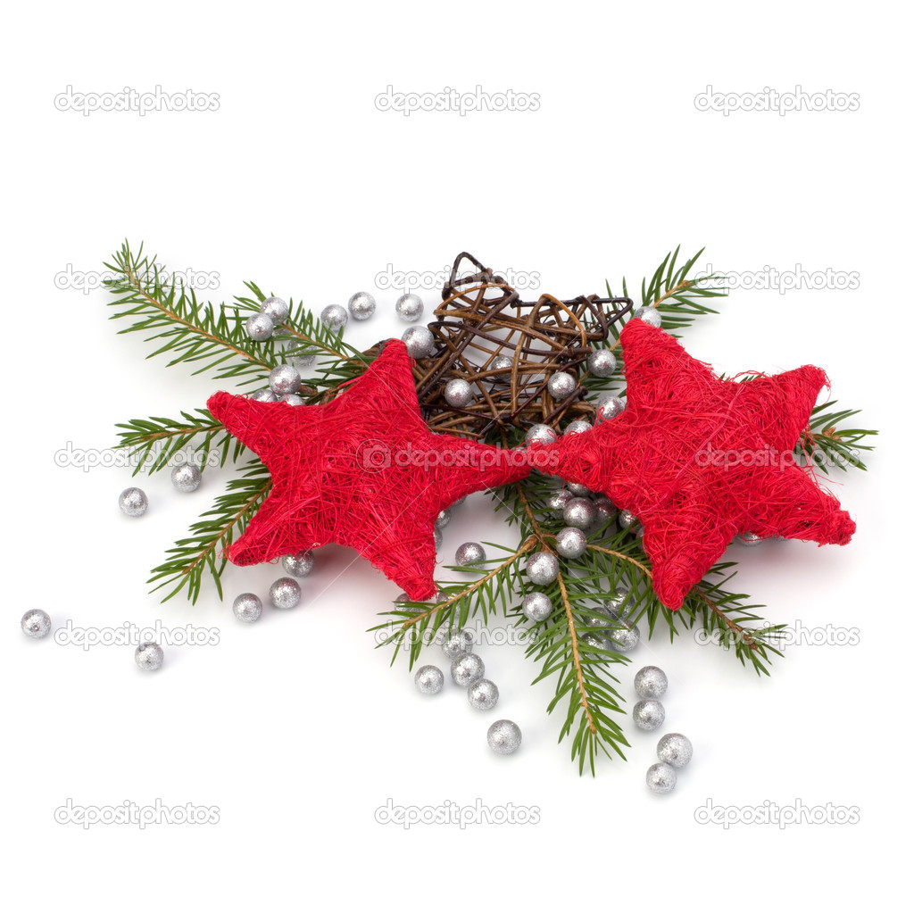 Christmas decoration isolated on white background close up — Stock Photo #4414116