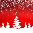 Royalty-Free Stock Vector Image: Christmas red sparkle  background with tree