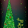 Christmas and new year tree vector image — Imagens vectoriais em stock