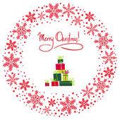 ベクトルのクリスマス リース — ストックベクタ
