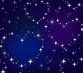 Seamless pattern Star heart in night sky — Stock Vector