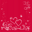 Red valentine background with hearts — Stock Photo #4622350