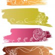 Royalty-Free Stock Vector Image: Floral colorful banners with flower and heart