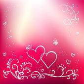 Abstract vector peint floral fond, Saint-Valentin — Vecteur