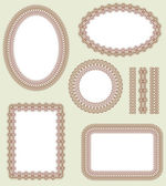 Frame set. Decorative vector elements — Stock Vector
