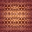 Seamless ornamental wallpaper pattern, vector illustration — Imagens vectoriais em stock