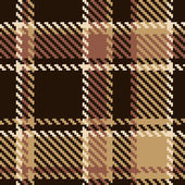 Seamless tartan brown abstract pattern — Stock Vector