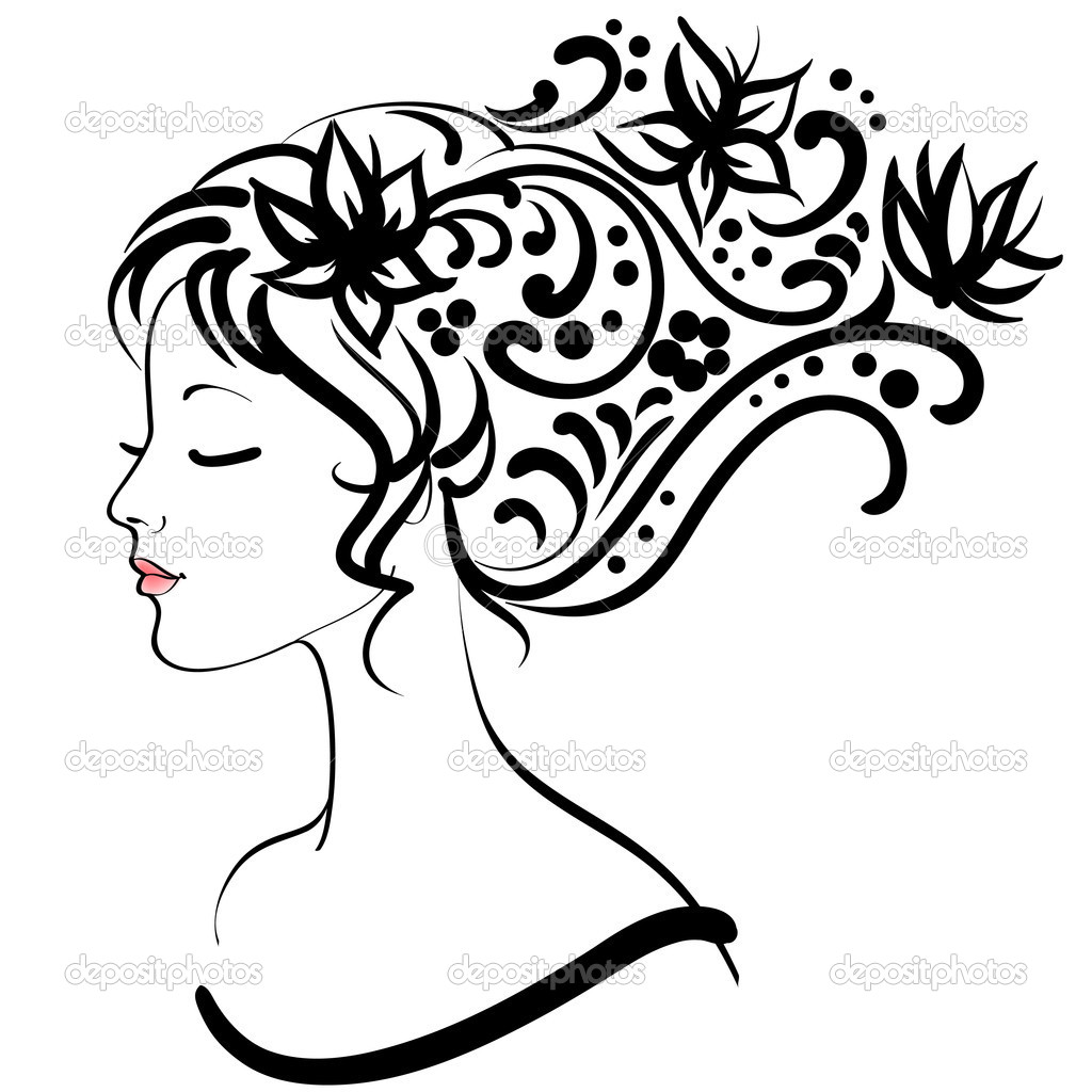 Spring floral girl, vector illustration — Stock Vector #5230079
