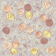 Seamless floral light vector background — Imagen vectorial