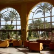 Hotel lobby with big window — Stock Photo #4954786