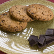 Chocolate  and cookies on a plate — Stock Photo