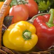 Fruits and vegetables food - Stock Photo