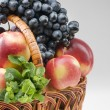 Stock Photo: Fruit food objects in basket