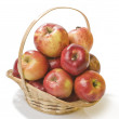Apple food in a basket — Stock Photo