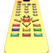 Stock Photo: Golden universal remote control