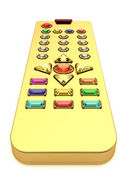 Golden universal remote control — Stock Photo