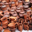 Handmade ceramic pottery - Stock Photo