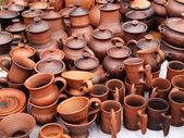 Handmade ceramic pottery — Stock Photo