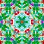Fractal mosaic background — Stock Photo