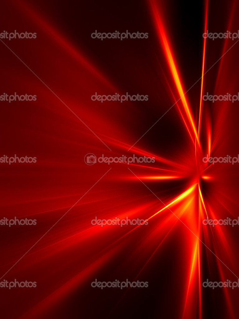 Red and yellow rays on black background. High resolution abstract image — Stock Photo #5033796