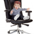 Baby boss wants to earn a little bit more money, isolated on whi — Stock Photo #4019176