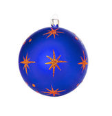 Red dull christmas ball — Stock Photo