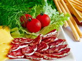 Various kinds of appetizers — Stock Photo