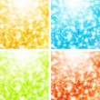 Holiday background set - Imagen vectorial