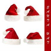 Santa`s hat collection — Stock Photo