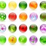 Glossy balls — Stock Vector