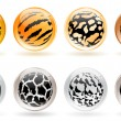 Royalty-Free Stock Vector Image: Glossy balls