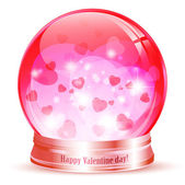 Valentine day globe — Stock Vector