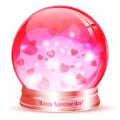 Valentine den globe — Stock vektor
