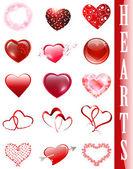 Heart collection — Stock Vector