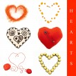 Heart shapes set - Stock Photo