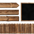 Wooden elements - Stock Photo