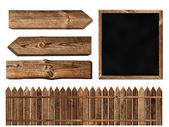 Wooden elements — Stock Photo
