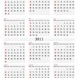 2011 calendar template — Stock Vector #4813089